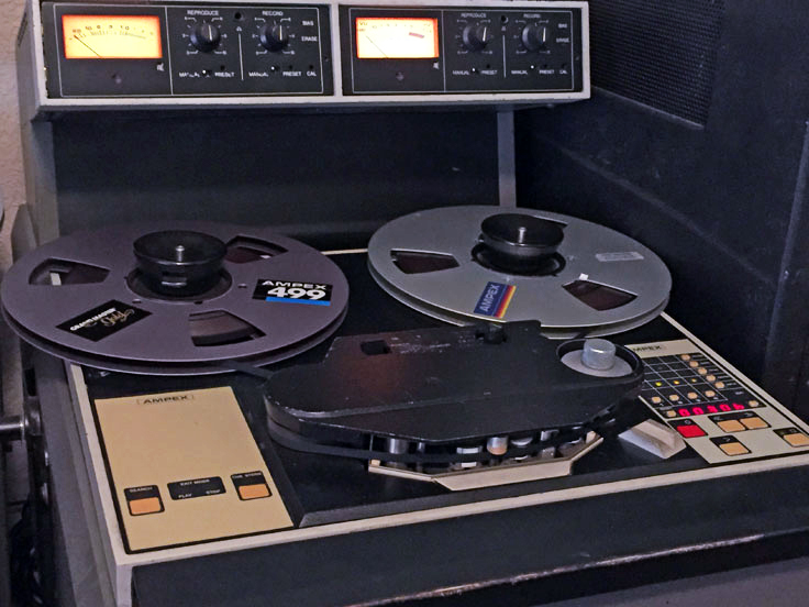 Ampex ATR 100/102 professional reel to reel tape recorder in the Reel2ReelTexas.com - Museum of Magnetic Sound Recording