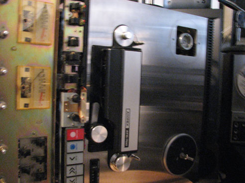 Inside the AmpexATR-700 (built by Teac)  two Track mastering reel to reel tape recorder in the Reel2ReelTexas vintage reconding collection