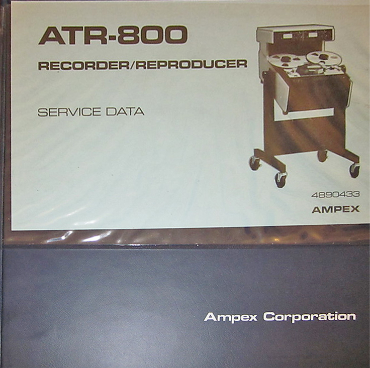 Ampex ATR-800 professional reel to reel tape recorder Manual in the Reel2ReelTexas.com vintage recording collection