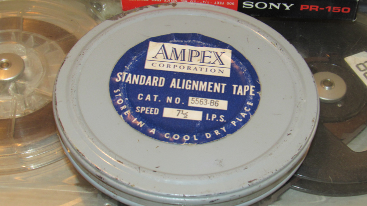Ampex alignment tape in the Reel2ReelTexas/MOMSR/Theophilus vintage reel tape recorder recording collection