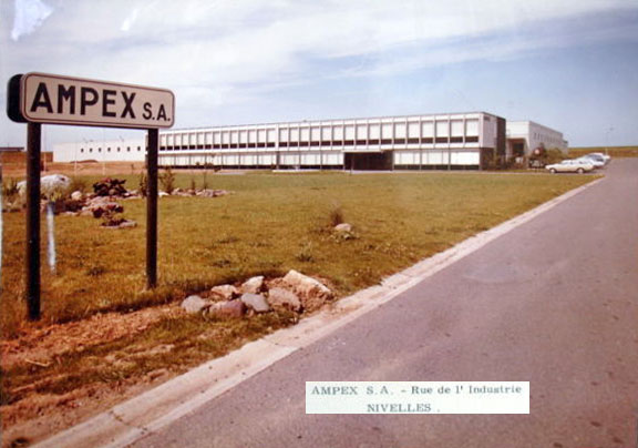 Miriam Himelfarb shared this photo of the AMPEX S.A. NIVELLES, BELGIUM Assembly Plant with the Museum of Magnetic Sound Recording and Reel2ReelTexas.com vintage reel tape recorder recording collection