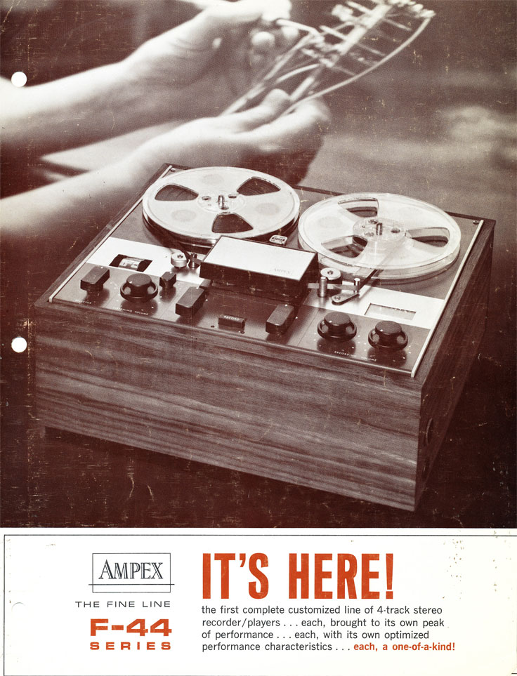 Ampex F44 Fine Line reel to reel tape recorder in the Reel2ReelTexas.com vintage recording collection Museum vintage collection