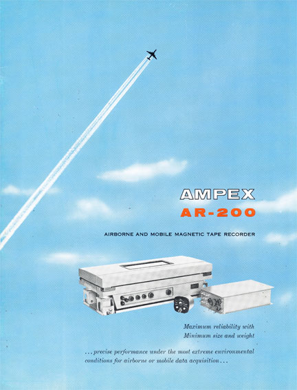 Ampex AR-200 Airborne and mobile magnetic tape recorders