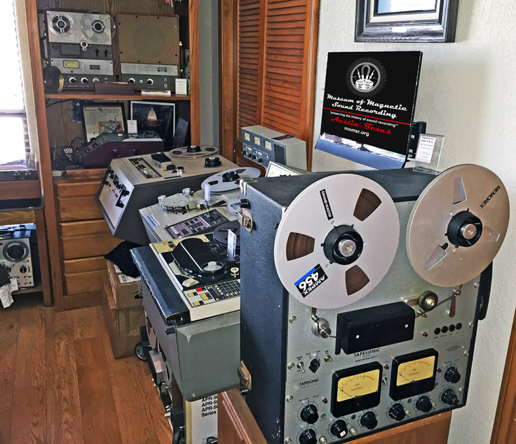 Our Museum's Tapesonic, Ampex Atr-100, Sony APR-5003, Sony/MCI JH-110, Ampex 601 and 620 Speaker, Webster Chicago 18--1 wire recorder , Concertone 707 and a BO Dynaco Beocord 2000 reel to reel tape recorder