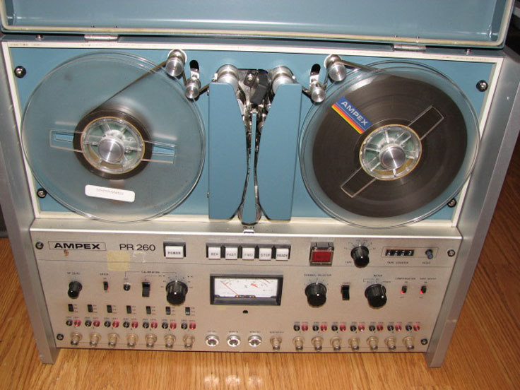 "Ampex PR 260 1/4"" 8 track instrumentation/data  reel to reel tape recorder in the Reel2ReelTexas.com vintage recording collection"