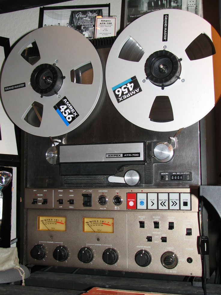 Ampex ATR-700 professional reel to reel tape recorder in the Reel2ReelTexas.com vintage reel tape recorder recording collection
