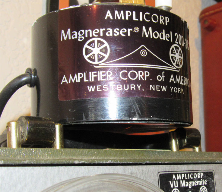Amplicorp bulk eraser Model 200 Bulk eraser in the Reel2ReelTexas.com / Museum of Magnetic Sound Recording vintage reel tape recorder recording collection