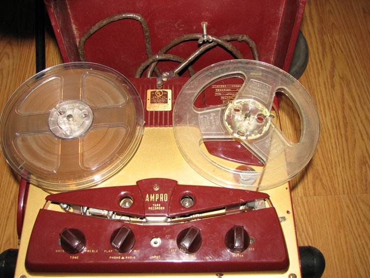 1951 Ampro 731 reel to reel tape recorder  in the Reel2ReelTexas.com vintage recording collection