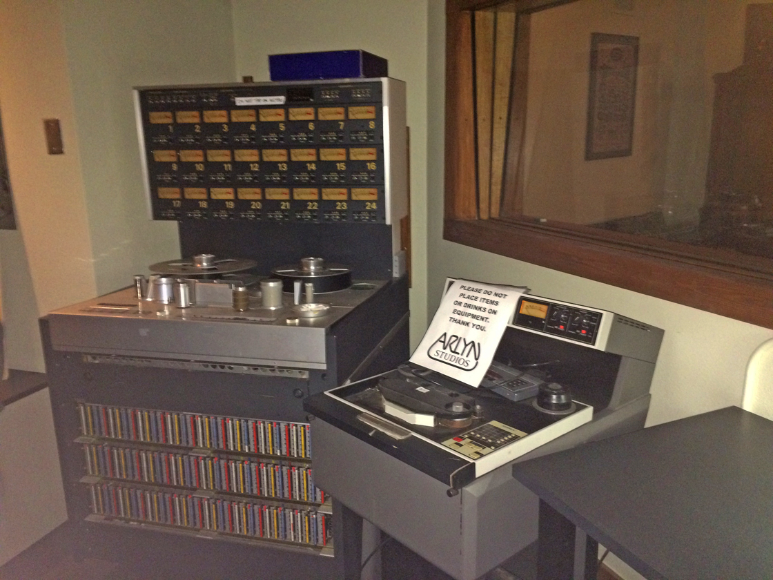 Analog reel tape recorders at the Arlyn Studios in Austin, Texas, Photo is still from video shot for the Museum of Magnetic Sound Recording