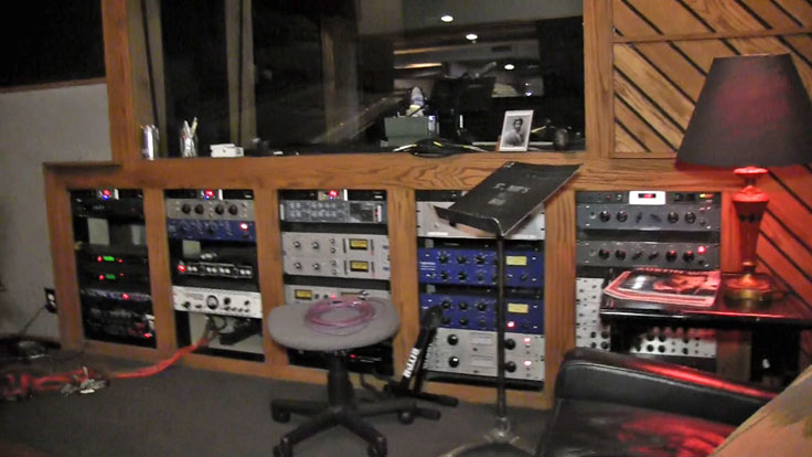 Gear in Studio B at Arlyn Studios in Austin, Texas. Photo is still from video shot for the Museum of Magnetic Sound Recording