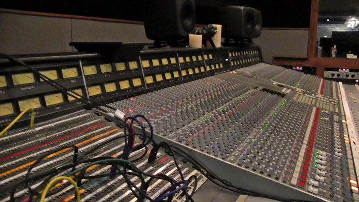 The Pedernales Studio SSL  console at Arlyn Studios in Austin, Texas. Photo is still from video shot for the Museum of Magnetic Sound Recording