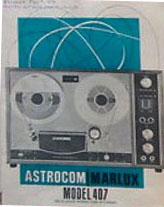 Astrocom Marlux reel to reel tape recorder accessories