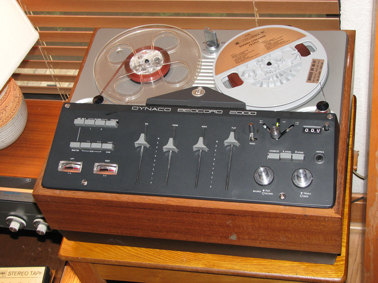 Bang & Olufsen Dynaco Beocord 2000 reel to reel tape recorder in the Reel2ReelTexas.com vintage recording collection