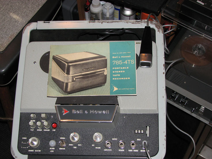 Bell and Howell reel tape recorder in the Reel2ReelTexas.com vintage recording collection