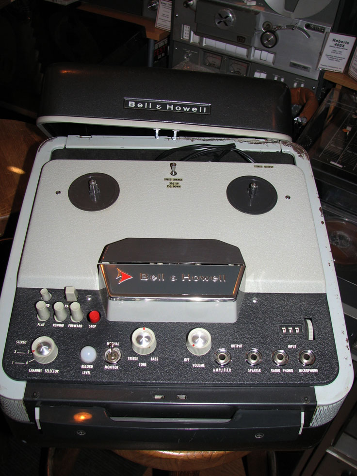 Bell & Howell 7854TS reel to reel tape recorder  in the Reel2ReelTexas.com vintage recording collection