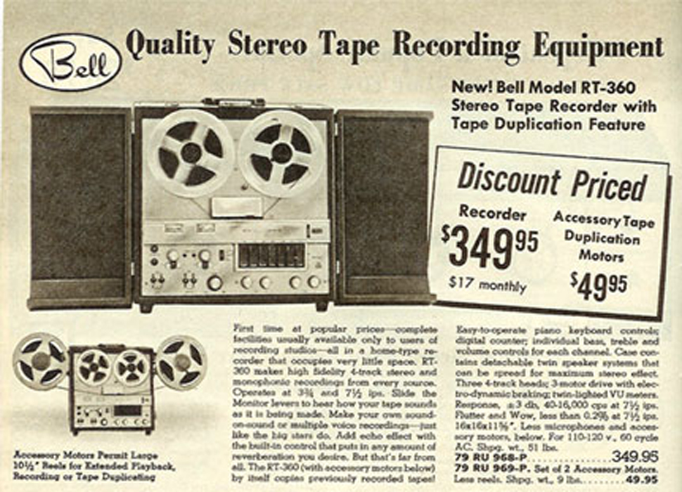 1955 Bell RT-65 adin the Reel2ReelTexas.com vintage reel tape recorder recording collection