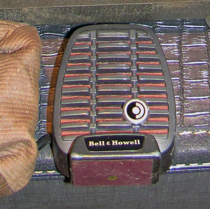 Bell and Howell microphone in the Reel2ReelTexas.com vintage reel tape recorder recording collection