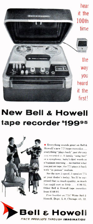 Bell & Howell Model785 4TS reel to reel tape recorder photofact in the Museum of Magnetic Sound Recording / Reel2ReelTexas.com vintage recording collection