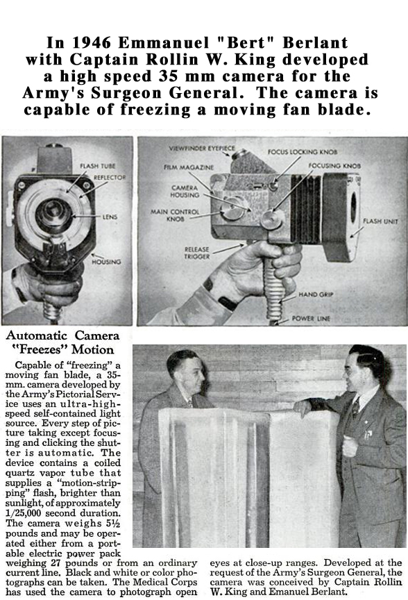 1947 Berlant high speed camera article in the Reel2ReelTexas.com vintage recording collection