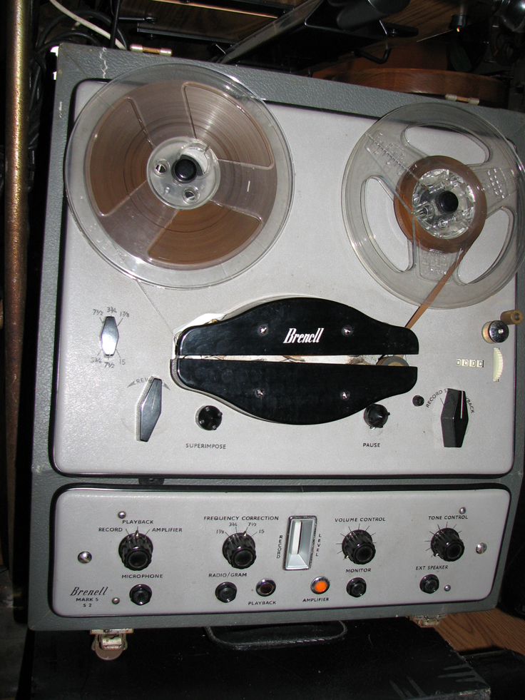 Brenell Mark 5 S UK reel to reel tape recorder in the Reel2ReelTexas.com vintage reel tape recorder recording collection