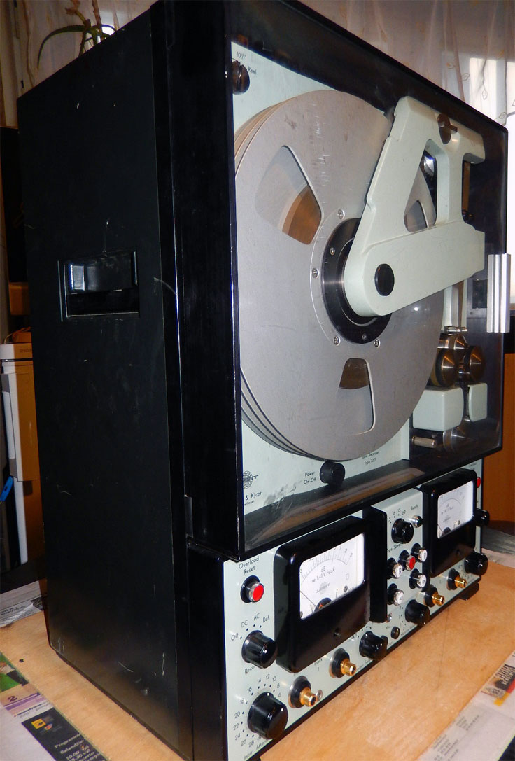 Bruel Kjaer 7001 Instrumentation recorder photo in the Museum of Magnetic Sound Recording's vintage reel tape recorder collection