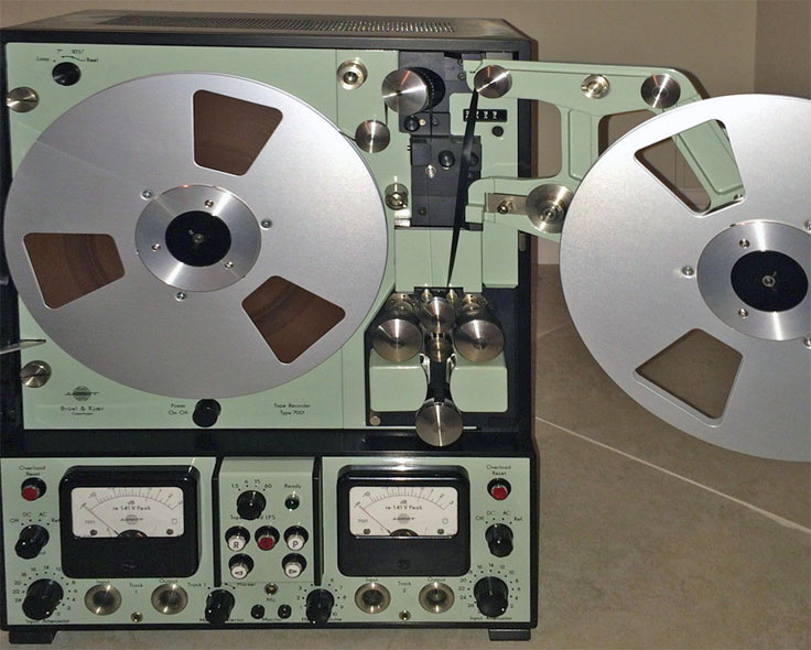 Bruel Kjaer 7001 Instrumentation recorder photo donated by Stephen J. King, Fl to the Museum of Magnetic Sound Recording's vintage reel tape recorder collection