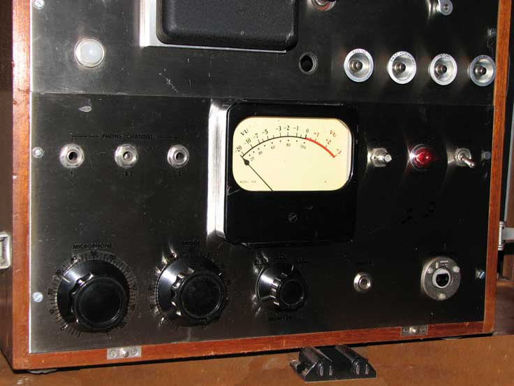 Brush Electronics Company's professional model 2105 reel to reel tape recorder in the Reel2ReelTexas.com vintage recording collection