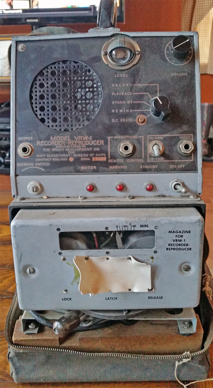 Brush BK 313 VRW-1 wire reel to reel recorder - U.S. Navy - photos provided by Brett Goggin Minot, ME