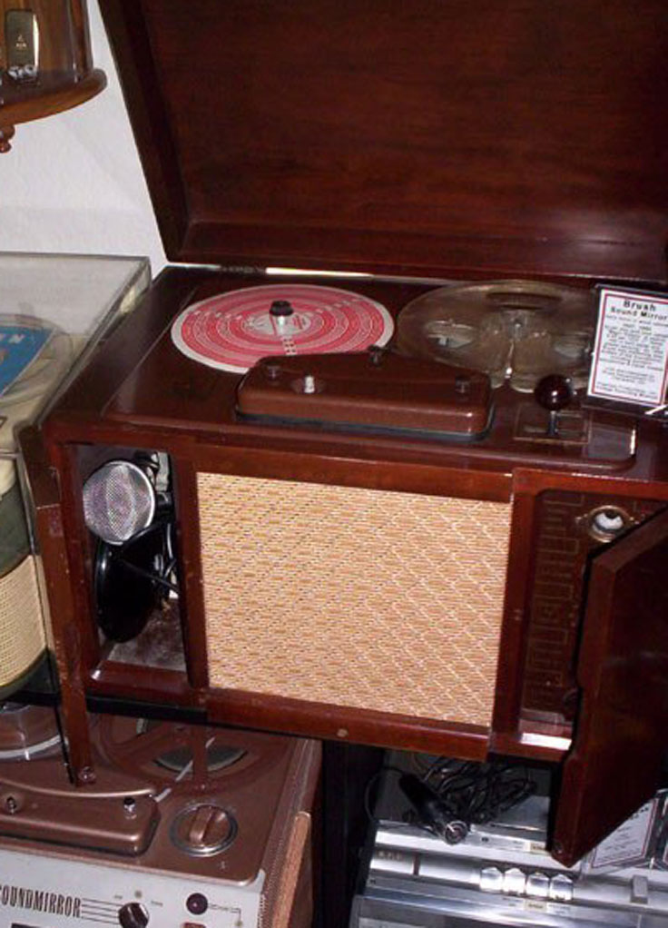 Brush BK-727 reel tape recorder in the Reel2ReelTexas.com vintage recording colection