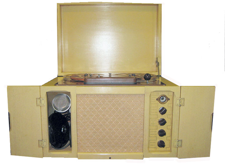 picture of Brush BK 401 Sound mirror reel tape recorder in Reel2ReelTexas.com's vintage recorder collection
