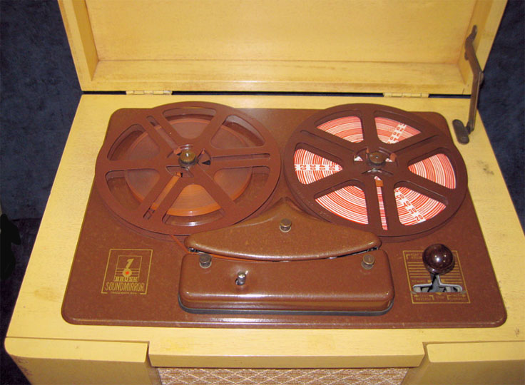 Brush BK 427 Sound mirror reel tape recorder in Reel2ReelTexas.com's vintage recorder collection