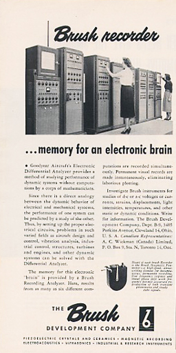 Brush Development ad for their data products 1951