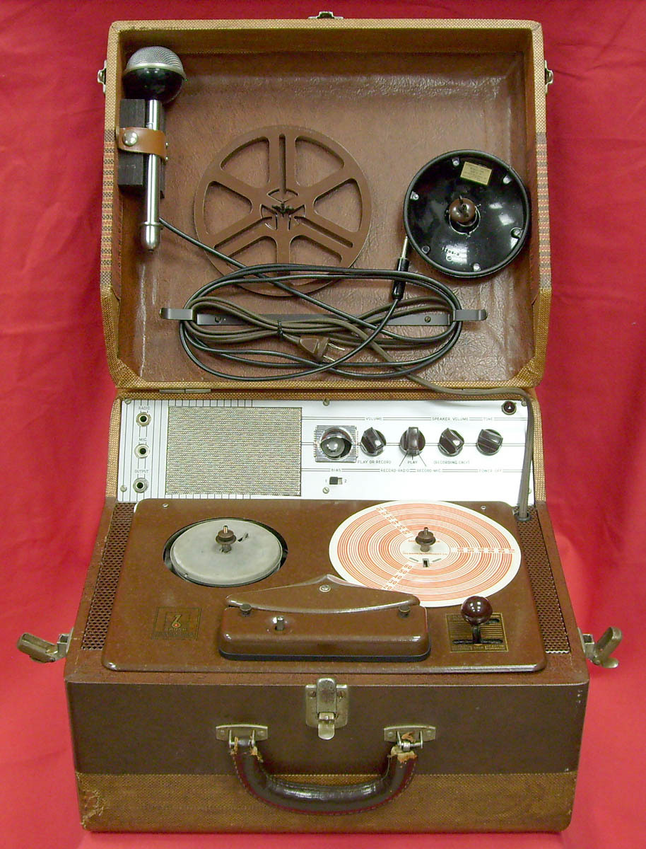 Brush Sound mirror reel tape recorder in Reel2ReelTexas.com's vintage recorder collection