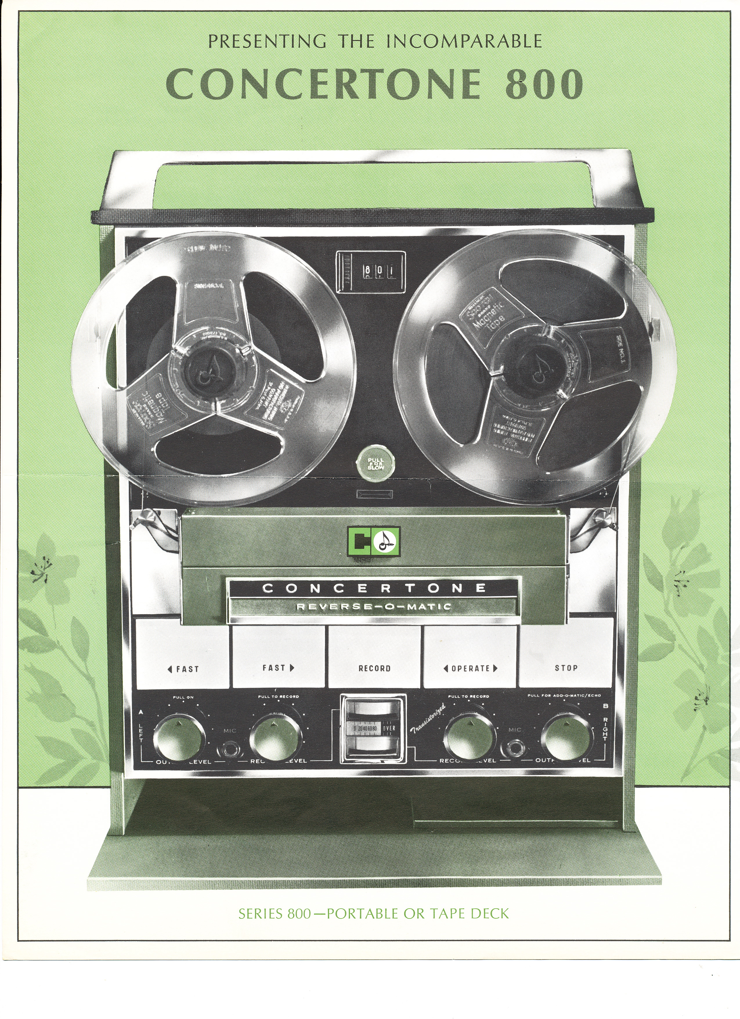 Reel To Tape Recorder Manufacturers Teac Tascam Corporation Marantz 7 Circuit Diagram 1964 Ad For The Concertone 800 Open In Museum