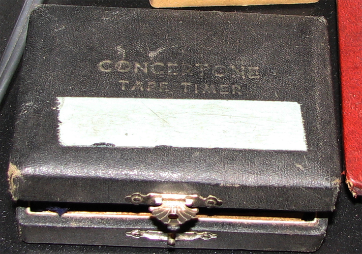 Concertone Tape Timer in wooden box in the Reel2ReelTexas.com vintage recording collection