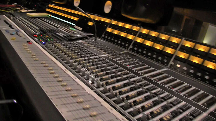 API and Neve consoles married into one with a center management panel in Arlyn Studio A