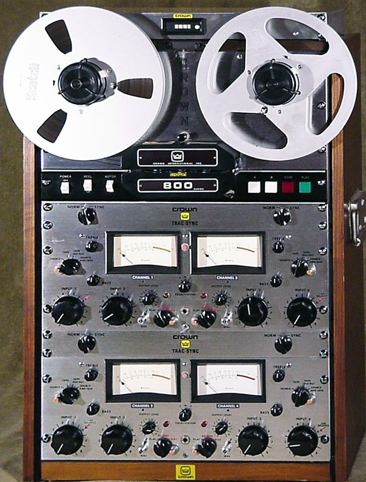 Photos of this Crown CX-844 reel to reel tape recorder provided by Peter Frei
