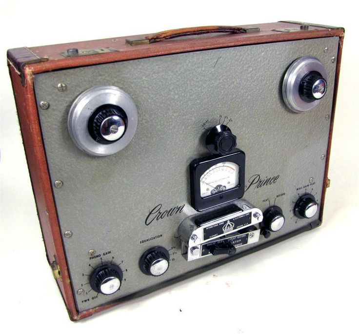 Crown Audio Inc. Crown Prince professional reel to reel tape recorder photo in the Reel2ReelTexas - Museum of Magnetic Sound Recording vintage recording collection