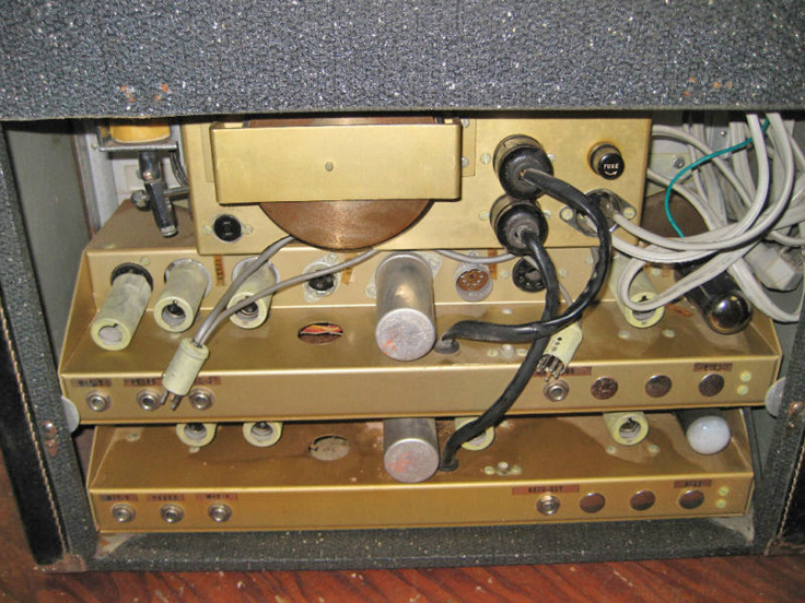 Crown tape recorder photo in the Museum of magnetic Sound Recording