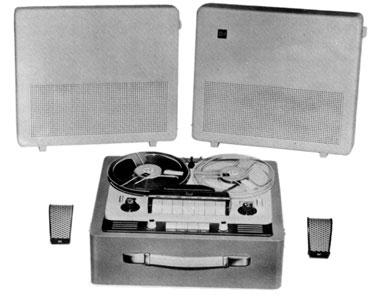 Dual reel to reel tape recorder in the Reel2ReelTexas.com vintage reel tape recorder recording collection