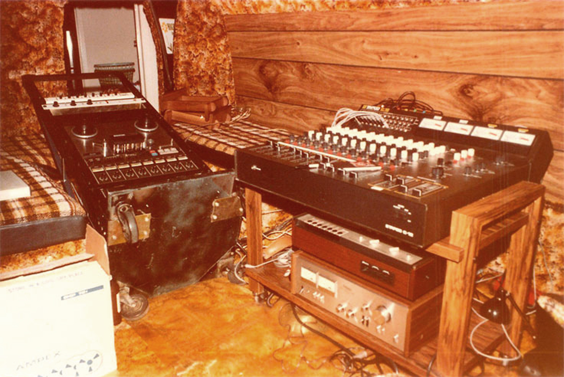 "1980 photo the Teac Tascam 80-8 8-track reel to reel tape recorder in the Phantom Productions' on-location van of the Teac 80-0 8 track reel to reel 1/2"" tape recorder in Reel2ReelTexas.com's vintage reel tape recorder recording collection"