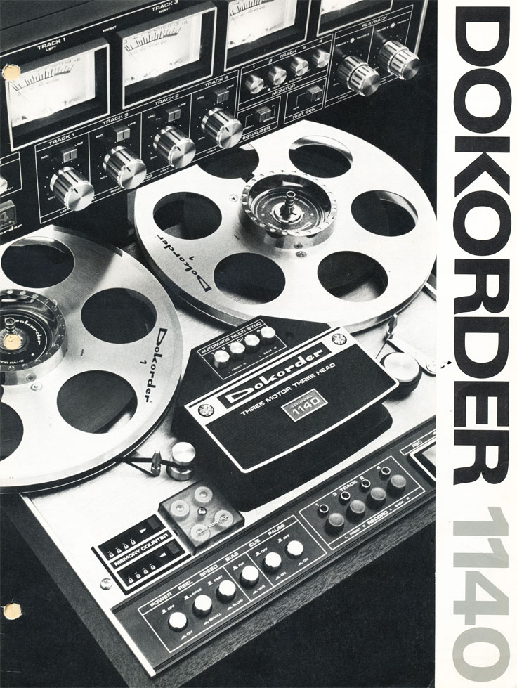 Dokorder reel to reel tape recorder ad/photos in the Reel2ReelTexas.com vintage reel tape recorder recording collection