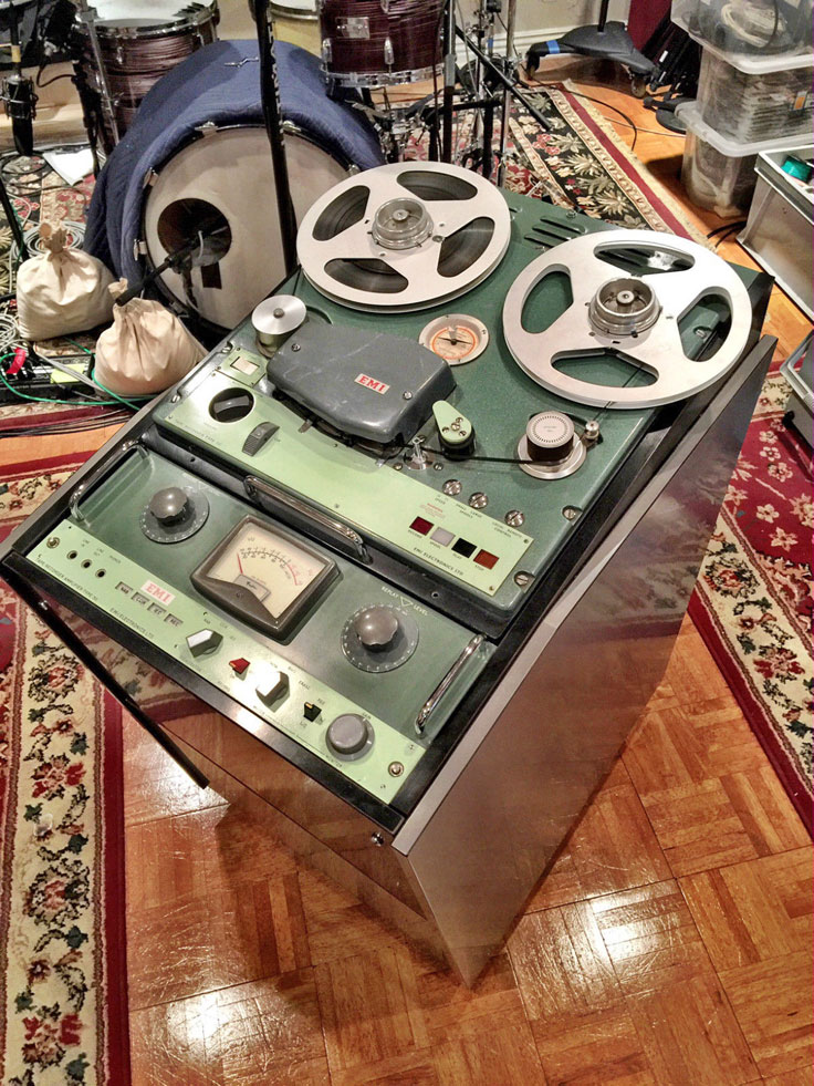 EMI BTR 4 tube, analog reel to reel tape  professional reel to reel tape recorder photo provided by Danny White to the Reel2ReelTexas.com and MOMSR vintage recording collection