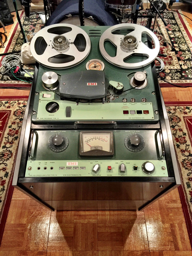 EMI BTR 4 tube, analog reel to reel tape  professional reel to reel tape recorder photo provided by Danny White to the Reel2ReelTexas.com and MOMSR vintage reel tape recorder recording collection