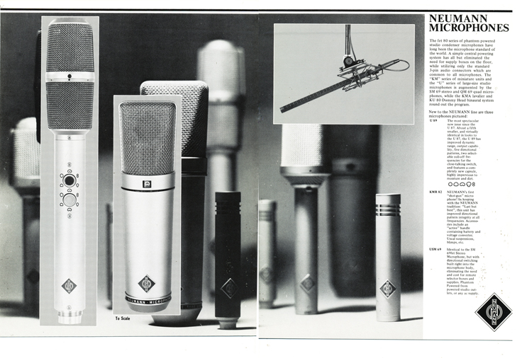1982 - 1983 Gotham product catalog featuring Neumann, Lyrec and Telefunken products - catalog is part of the Reel2reelTexas.com vintage recording collection