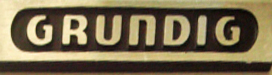 Grundig logo in the Reel2ReelTexas.com vintage reel tape recorder recording collection