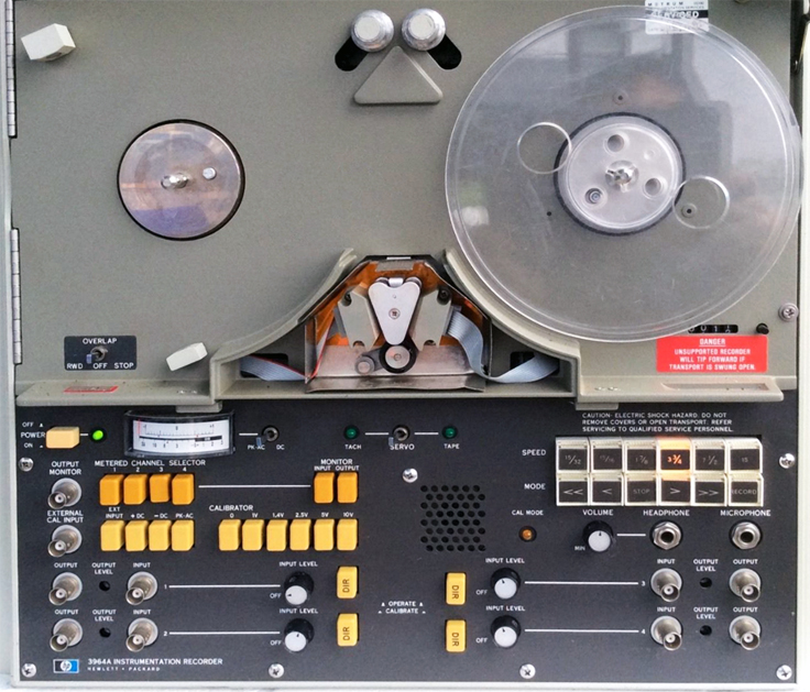 Hewlett-Packard-HP-3964A-Instrumentation reel to reel tape recorder.