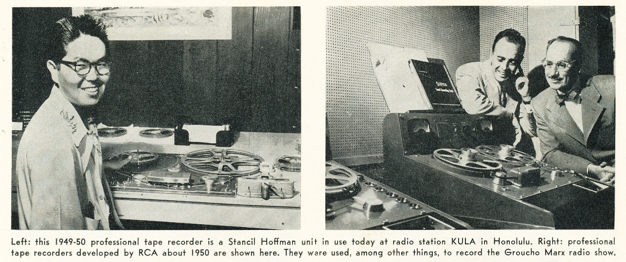 1950 article that includes the Stancil Hoffman professional tape recorder in the Reel2ReelTexas.com vintage recording collection