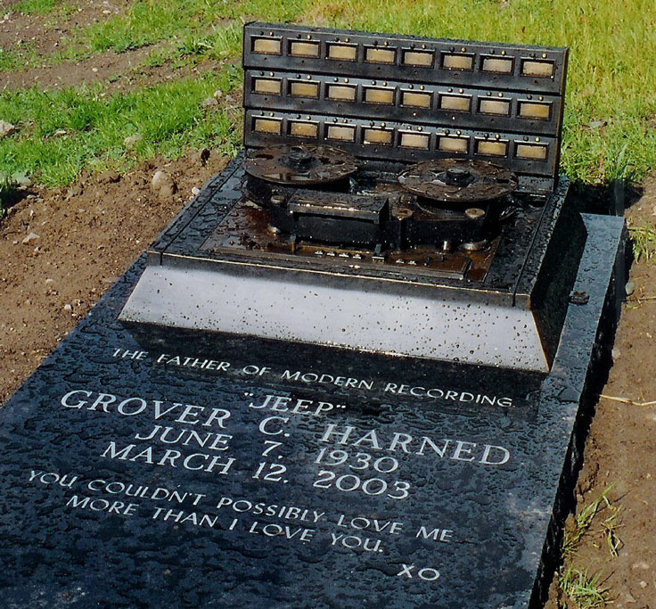 "Grover ""Jeep"" Harned MCI founder's headstone"