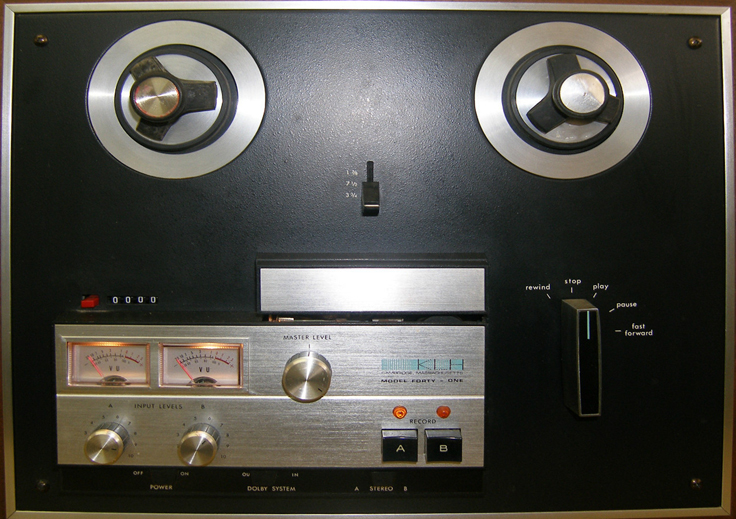 KLH Model 41 reel to reel tape recorder photo in the Reel2ReelTexas.com vintage reel tape recorder recording collection